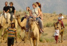 Camel ride on the outskirts of Pushkar
