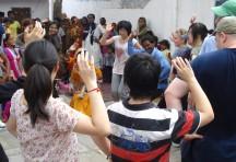 Students enjoying a dance