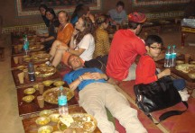 Relaxing after a heavy Rajasthani meal
